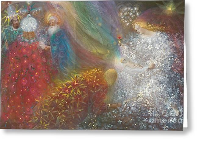 Child Jesus Greeting Cards - A Child is born Greeting Card by Annael Anelia Pavlova