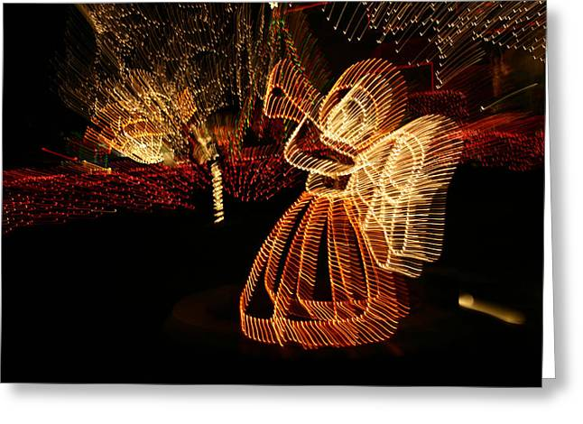 Night Angel Greeting Cards - A Christmas Angel Comes To Life In This Greeting Card by Stephen St. John