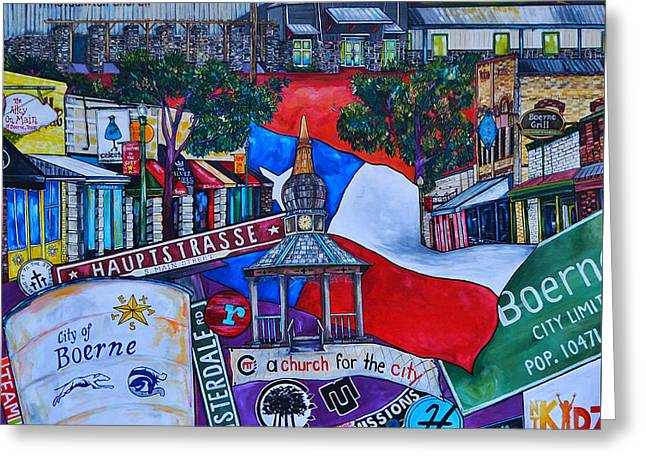 Parks In Texas Greeting Cards - A Church For The City Greeting Card by Patti Schermerhorn