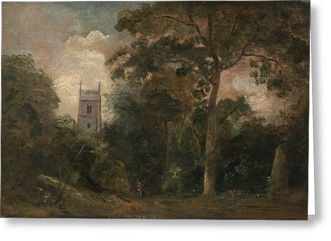 A Church In The Trees Greeting Card by John Constable
