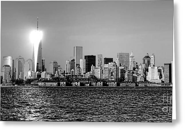 Wall Street Greeting Cards - A City Reborn  Greeting Card by Olivier Le Queinec