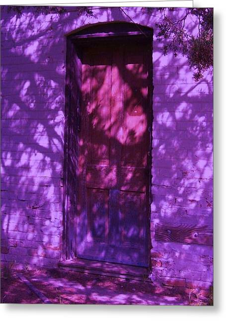 Eerie Greeting Cards - A Closed Door Beckens Greeting Card by Ruth Koob