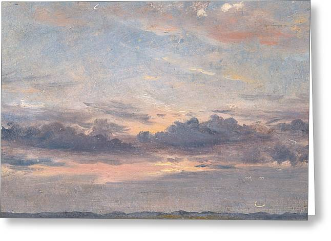 A Cloud Study Sunset Greeting Card by John Constable