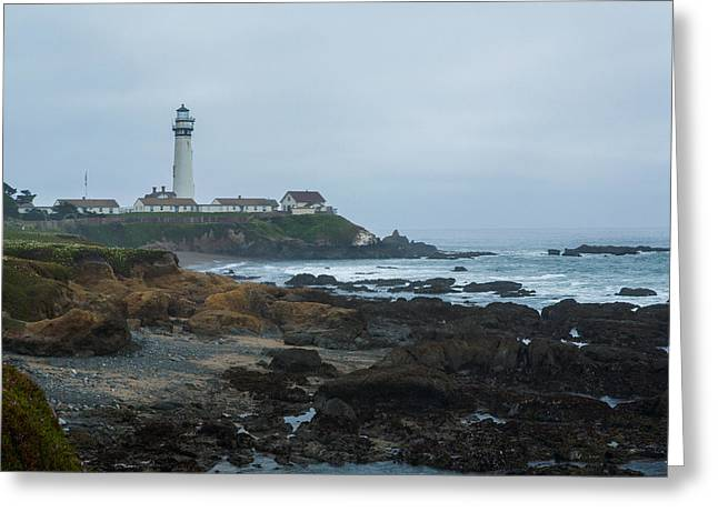 Santa Cruz Greeting Cards - A Cloudy Day at Pigeon Point Greeting Card by Bryant Coffey