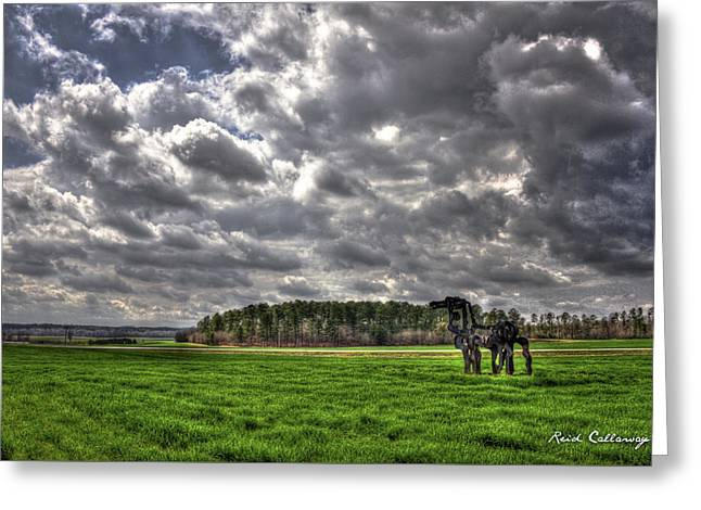 A Cloudy Day The Iron Horse Greeting Card by Reid Callaway