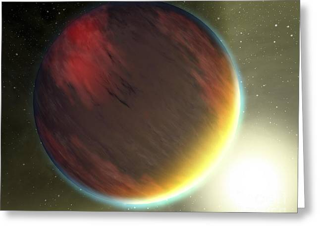 Spectra Greeting Cards - A Cloudy Jupiter-like Planet That Greeting Card by Stocktrek Images