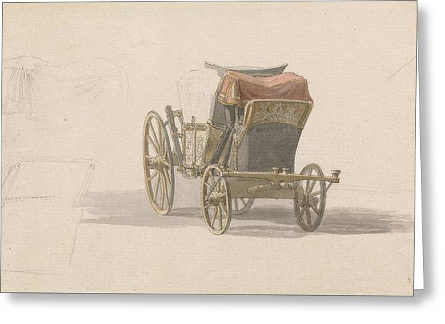 A Coach With Royal Coat Of Arms Greeting Card by Paul Sandby