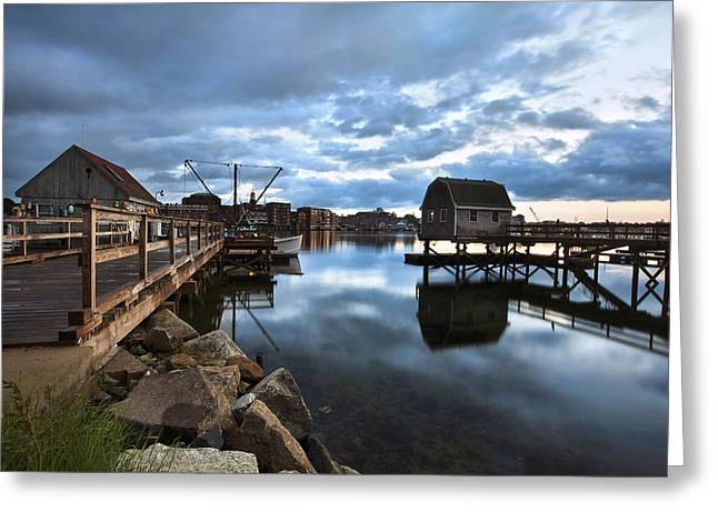 A Coastal Scene Greeting Card by Eric Gendron