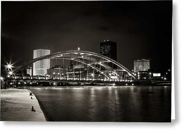 Rochester Greeting Cards - A Cold Night Greeting Card by Anton Shilman