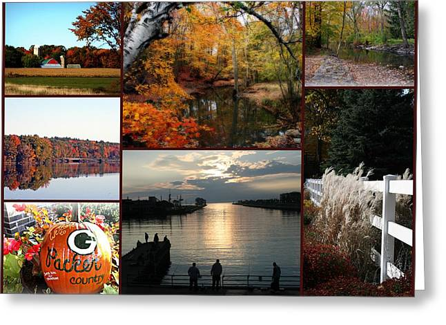 Kkphoto1 Greeting Cards - A Collage Of Autumn Greeting Card by Kay Novy