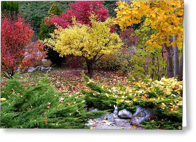 Rocks Greeting Cards - A Colorful Fall Corner Greeting Card by Will Borden