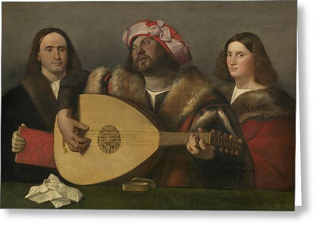Strumming Greeting Cards - A Concert Greeting Card by Giovanni de Busi Cariani