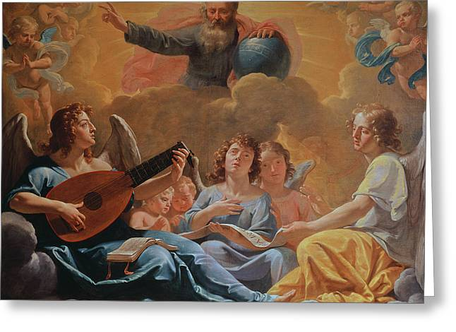 A Concert Of Angels Greeting Card by Philippe de Champaigne