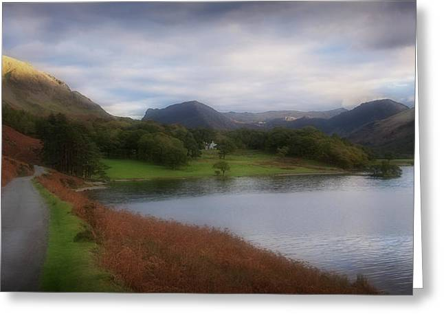 Braken Greeting Cards - A Corner Of Crummock Water Greeting Card by Anthony Dudley