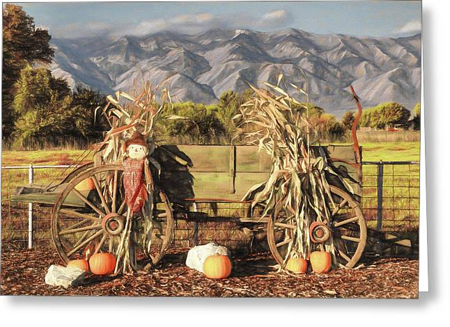 A Country Autumn Greeting Card by Donna Kennedy