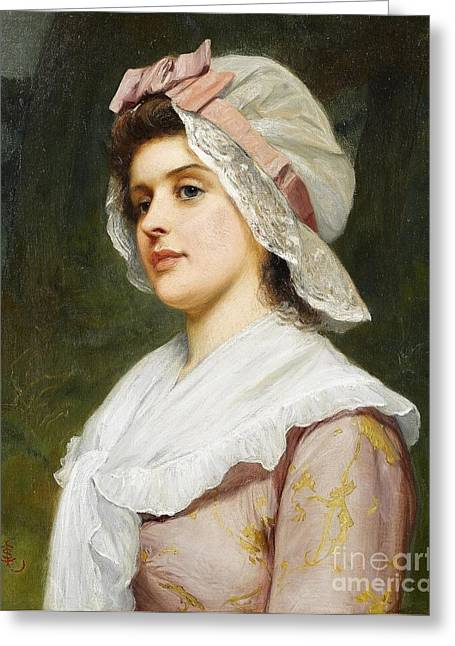Charles Lidderdale Greeting Cards - A Country Maid Greeting Card by MotionAge Designs
