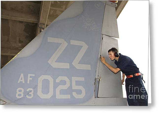 Analyze Greeting Cards - A Crew Chief Conducts Postflight Greeting Card by HIGH-G Productions