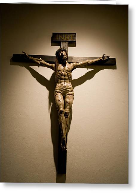 A Crucifix In The Old Saint Francis Greeting Card by Stephen St. John