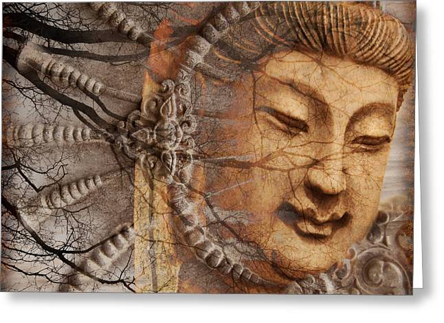 Buddhism Greeting Cards - A Cry Is Heard Greeting Card by Christopher Beikmann