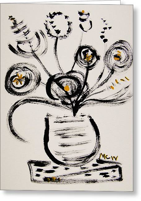 Silence Drawings Greeting Cards - A Dance in Silence Greeting Card by Mary Carol Williams