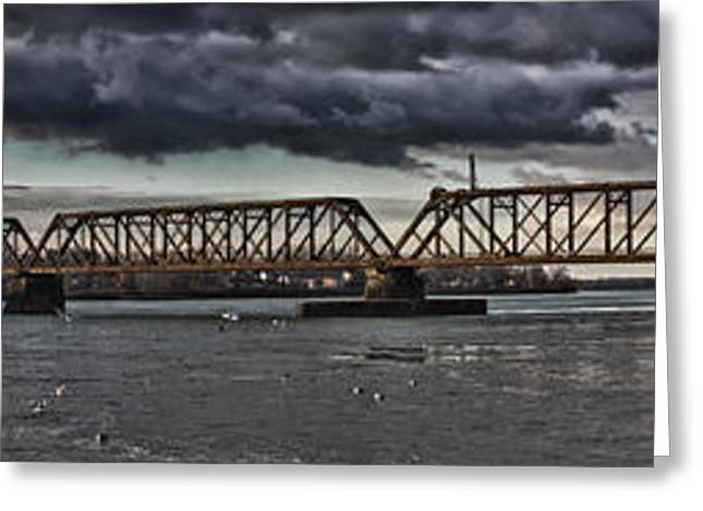 Swing Span Greeting Cards - A Danger Greeting Card by Chuck Alaimo