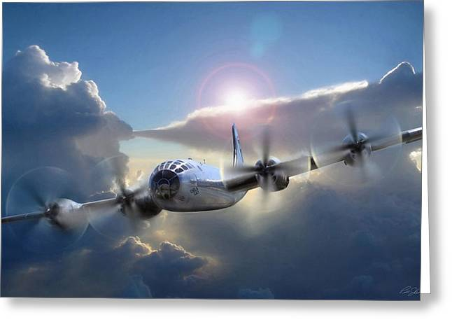 Enola Gay Greeting Cards - A Date With Destiny Greeting Card by Peter Chilelli
