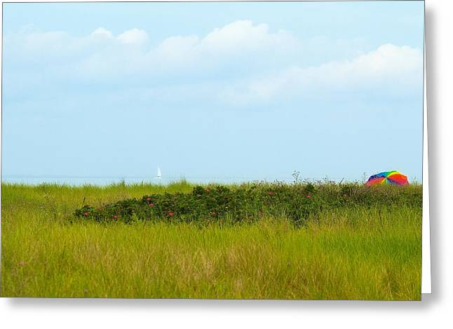 Ocean Art Photography Greeting Cards - A Day at the Beach Greeting Card by Photographs by Joules