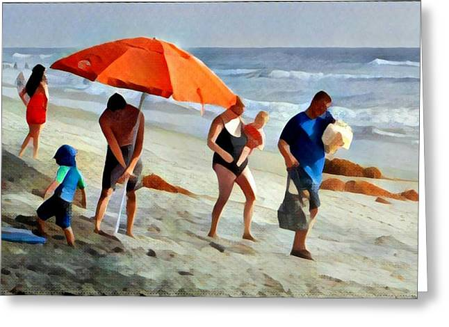 A Day At The Beach Greeting Card by Karyn Robinson