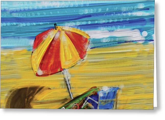 A day at the beach Greeting Card by Russell Pierce