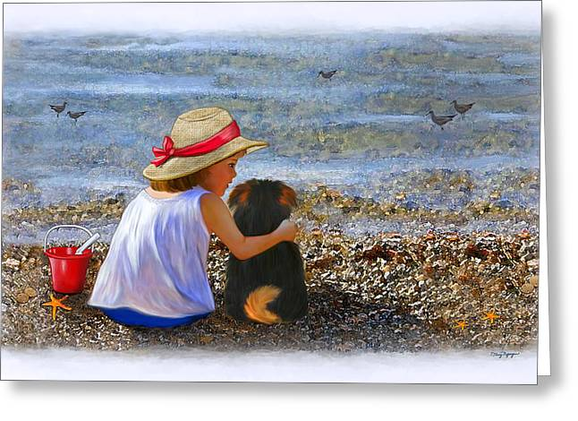 California Girl Greeting Cards - A day at the beach Greeting Card by Thanh Thuy Nguyen