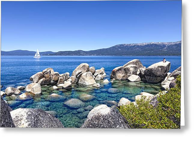 Incline Greeting Cards - A Day at the Lake Greeting Card by Janet Fikar