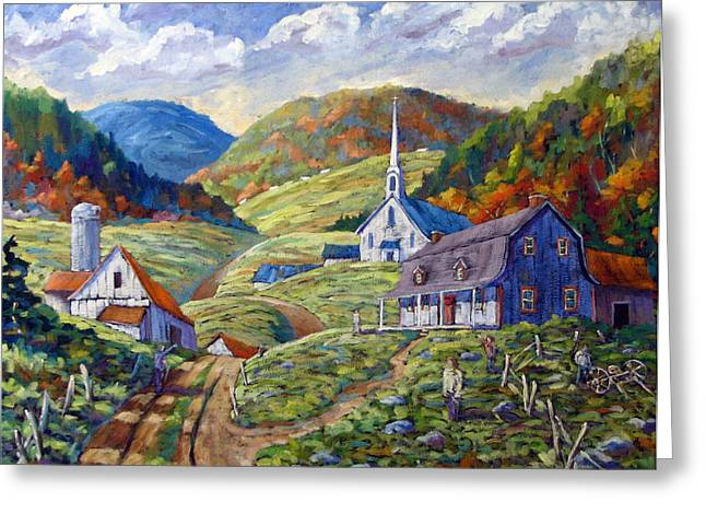 A Day In Our Valley Greeting Card by Richard T Pranke