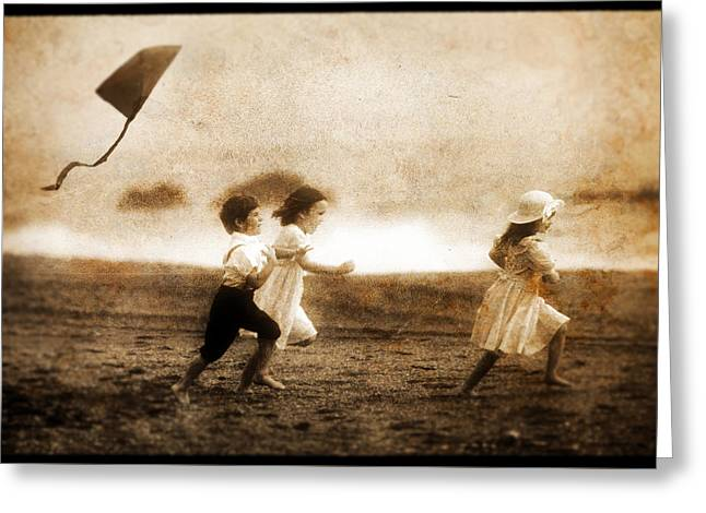 Kite Greeting Cards - A Day in the Sun Greeting Card by Terry Hankins