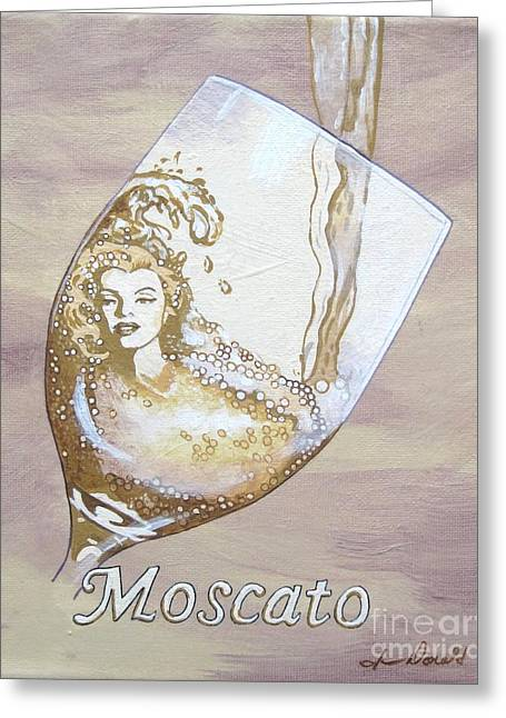 A Day Without Wine - Moscato Greeting Card by Jennifer  Donald