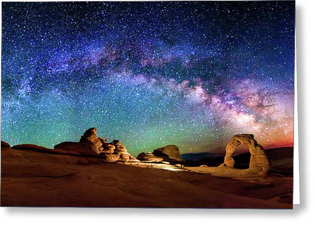 Southern Utah Greeting Cards - A Delicate Night Greeting Card by Ryan Moyer