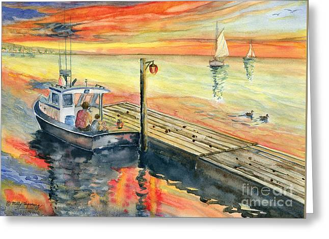 A Summer Evening Greeting Cards - A Delightful Evening Greeting Card by Melly Terpening