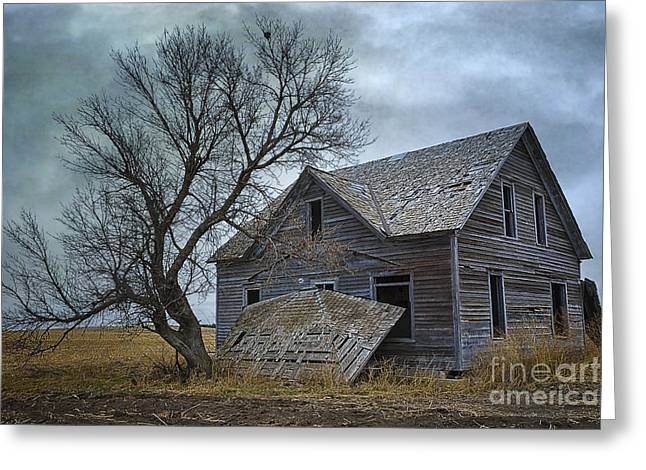 The Houses Greeting Cards - A Deserted Nebraska Homestead Greeting Card by Priscilla Burgers