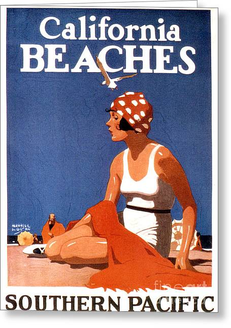 California Beaches Greeting Card by Jon Neidert