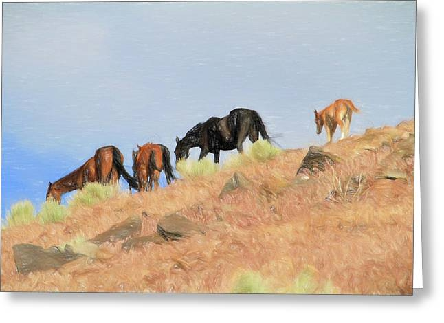 A Disappearing Part Of The West Greeting Card by Donna Kennedy