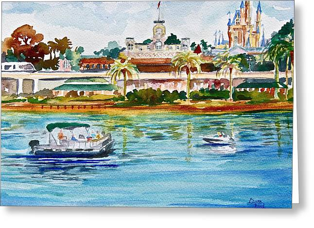 Florida Art Greeting Cards - A Disney Sort of Day Greeting Card by Laura Bird Miller