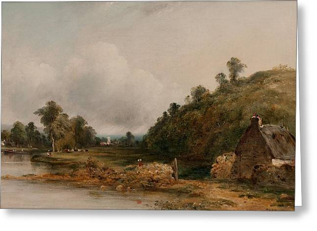 Dedham Greeting Cards - A distant view of Dedham Greeting Card by Frederick William Watts