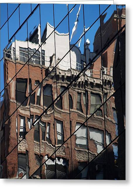 Distortion Greeting Cards - A Distorted View Greeting Card by Richard Mansfield