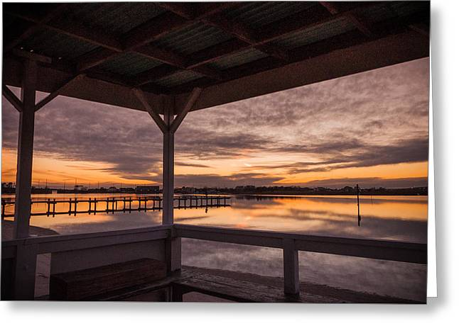 A Dockside View Greeting Card by Kristopher Schoenleber