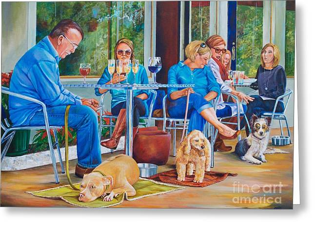 A Dog's Life Greeting Card by AnnaJo Vahle