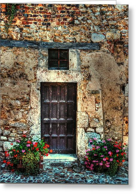 Entrance Door Greeting Cards - A Door in France Greeting Card by Tom Prendergast