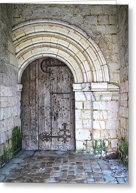 French Doors Greeting Cards - A Door Within A Door Greeting Card by Dave Mills