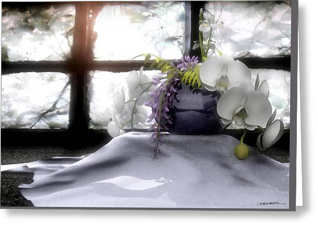 Chic Digital Greeting Cards - A Dream of Orchids Greeting Card by Cynthia Decker
