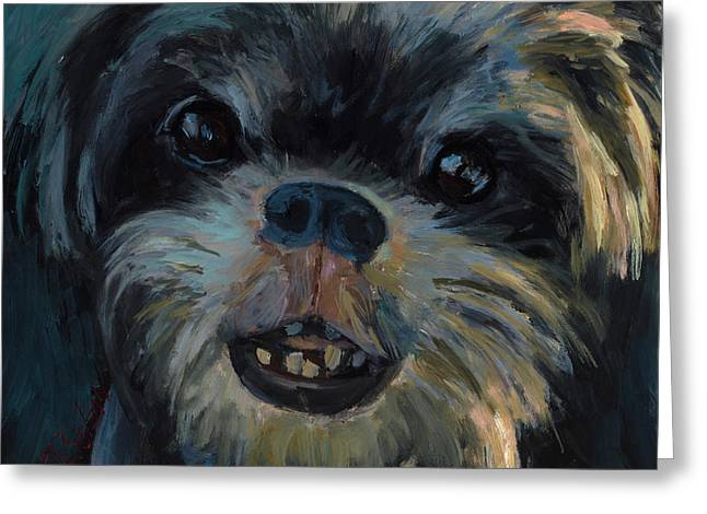 A Face Only A Mother Could Love Greeting Card by Billie Colson