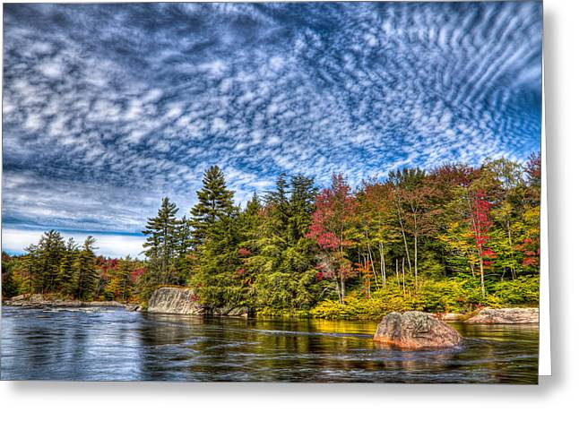 Reflections In River Greeting Cards - A Fall Day on the Moose River Greeting Card by David Patterson