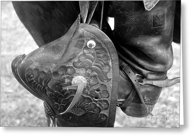 Black Boots Greeting Cards - A fancy stirrup Greeting Card by David Lee Thompson